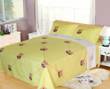 Licensed FCBARCELONA 3 PC TWIN SHEET SET, YELLOW Flat, Fitted, 1 Sham