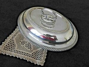 Edwardian Silver Plated Entree Dish / 3 Piece Tureen ~ Mappin & Webb Sheffield