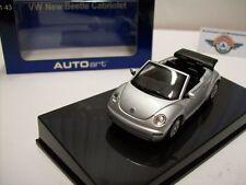 VW New Beetle Cabrio, Argento, 2003, Autoart 1:43, OVP