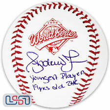 Braves Andruw Jones Signed Autographed 1996 World Series Baseball JSA Auth LE/24