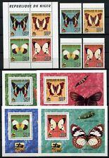Schmetterlinge 1996 Niger Pfadfinder Scouts 1186-1189 + KLB + Blocksatz /167