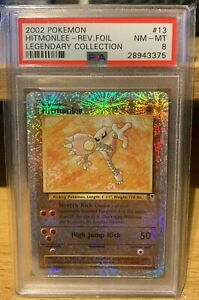 Hitmonlee Legendary Collection 13/110 PSA 8 Reverse Holo POP 27 Pokemon 2002