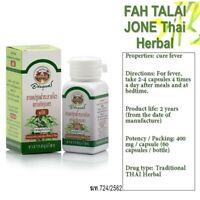 60 Capsules Andrographis Paniculata FAH TALAI JONE Thai Herbal Fever Relief