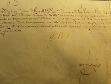 KING HENRY IV AUTOGRAPH ON PATENT OF REMISSION OF RIGHTS -  AUGUST, 20 1599