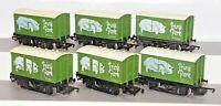 Hornby GB 00 Gauge Rake x6 Prime Pork Closed Wagons Used Unboxed