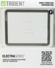 New! - Trident Electra Series Wireless Charging Pad with Qi Technology - White