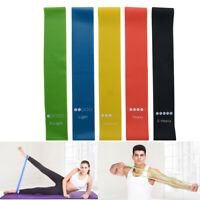 Fitness Training Yoga Sport Elastic Resistance Bands Pull Belt Arm Thigh Strap_