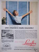 PUBLICITÉ DE PRESSE 1957 LUXAFLEX STORES VENITIENS HUNTER DOUGLAS HOLLAND