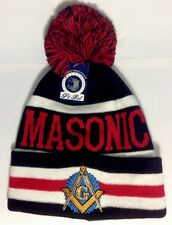 Masonic Winter Hat, Mason, Freemason, Winter Beanie Black/red Color