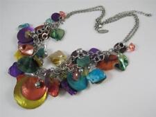 """Avenue Brand Bright Multi-Colored Shell Bead 2-Strand Necklace 18.5"""""""