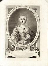 RITRATTO DI NOBILDONNA - OVALE - Incisione Originale 1700