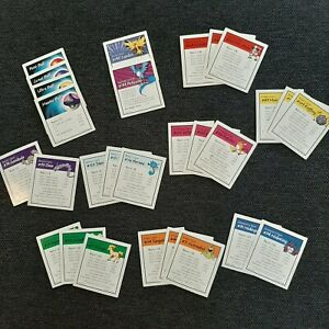 1999 Pokemon Monopoly Gameboard Replacemnt Deed Cards x28 Complete Set Of Deeds