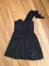 Wayne Cooper One Shoulder Black Cocktail Party Dress (Size 2)