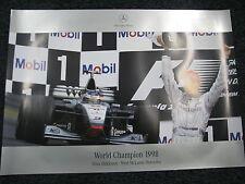 Poster West McLaren-Mercedes MP4-13 1998 #8 Mika Hakkinen World Champion F1 (JS)