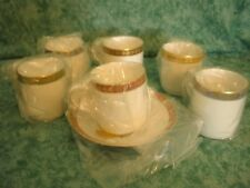 NEW!!~HUTSCHENREUTHER WALLACE CHINA~6 ASSORTED~DEMITASSE CUPS & SAUCERS~GERMANY