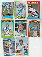 1981 DONRUSS SIGNED CARD JERRY AUGUSTINE MILWAUKEE BREWERS CARDINALS # 445