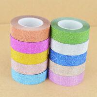 2x 10M Glitter Washi Tape Stick Self Adhesive Decorative Decor Craft DIY Paper