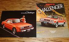 Original 1978 1979 Dodge Challenger Sales Brochure Lot of 2 78 79