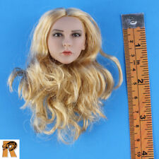 Cowgirl - Head w/ Blonde Rooted Hair - 1/6 Scale - Phicen Action Figures