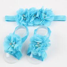 set bébé bandeau/sandale couvre pied chausson chaussette nourrisson cadeau fille