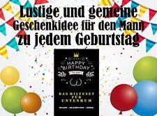 Lustiges Geschenk / Geldgeschenk für den Mann zum 18,30,40,50,60...Geburtstag