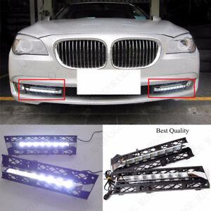 2x For BMW 7 Series 2009-2012 Front White LED Daytime Running Light DRL Fog Lamp