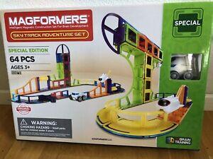 Magformers SkyTrack 64Pc,Set 3D Educational Tiles Magnetic Building STEM Toy