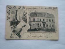 AK Amanweiler, Restauration zum Bahnhof, Denkmal.  gel o M