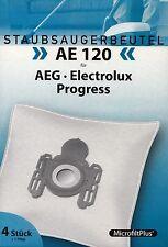 4 Staubsaugerbeutel AE 120 + 1 Filter AEG Progress Electrolux Privileg Volta