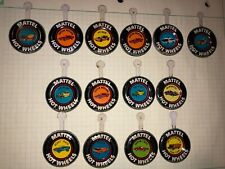 14 Hot Wheels redlines buttons,  Custom Mustang, Deora, Hot Heap, Ambulance