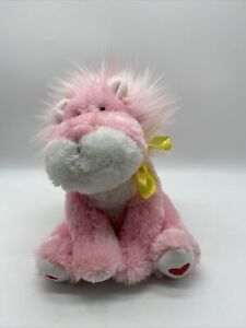 Russ Berrie Plush Roarrik Pink Lion Heart Stuffed Animal Roar