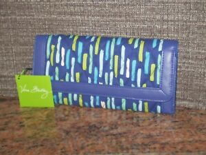 NWT Vera Bradley Blue Trifold Wallet MSRP $48 in Katalina Showers New!