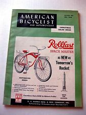 1959 American Bicyclist Magazine Fun Old Ads! Great Condition Bicycle Bike