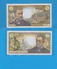 Banque de France 5 Francs Pasteur du 5-5-1967 X.54 Billet N° 0134612355