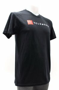 Clement Tire Short Sleeve Cotton T-Shirt Men ALL SIZES Black Cycling Bike Casual