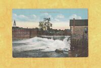 MA Chicopee Falls 1908-14 antique postcard THE FALLS DAM & BUILDINGS MASS