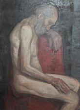 Vintage large oil painting nude