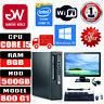"HP Elitedesk 800 G1 SFF Intel i5-45705 8GB 500GB SSD Win10 PC Bundle 22"" Monitor"
