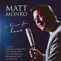 MATT MONRO A TIME FOR LOVE   - BRAND NEW CD {{