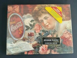 "Vintage Coca-Cola 500 Pc. Jigsaw Puzzle - ""Sentimental Sweetheart"" Springbok NEW"