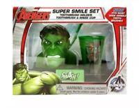 Marvel Avengers The Hulk Super Smile Set Toothbrush Holder Rinse Cup Bathroom