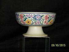Poole Studio Art Pottery Centerpiece HandPainted Fruit Bowl w/Pedestal Shape464