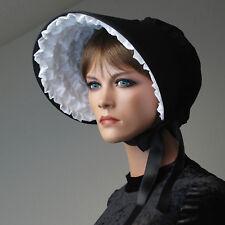 Viktorianische Haube mit weißer Rüsche - Victorian Bonnet, Steampunk, Lolita
