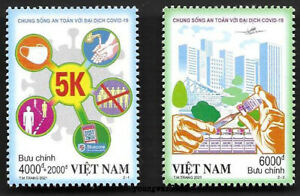 Viet Nam 2020-T11 Pandemic 2021 Special 2V Stamp China Fight Virus 新冠病毒 特11