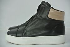 A7EIJE Womens Sz 8 M Black & Tan Leather Hi Top Ankle Boots NICE!!