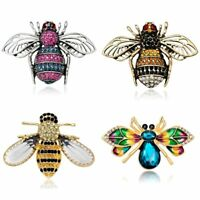 Vintage Insect Crystal Animal Bee Brooch Pin Jewelry Women Wedding