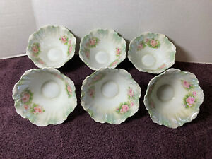 Six (6) Antique Silesia Porcelain Berry Bowls