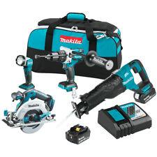 Makita XT448T 18-Volt 4-Piece Reciprocating/Circular Saw/ and Drill Combo Kit
