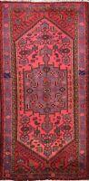 Traditional Tribal Geometric Hamedan Area Rug Hand-knotted Oriental Carpet 4'x7'