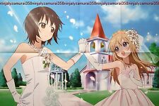 Yuru Yuri / Girls und Panzer poster promo anime girl big official large